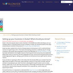 Setting up your business in Dubai? What should you know?