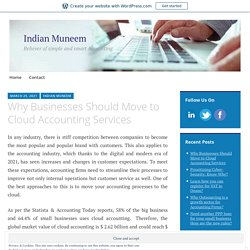 Why Businesses Should Move to Cloud Accounting Services