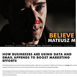 How Businesses are Using Data and Email Appends to Boost Marketing Efforts