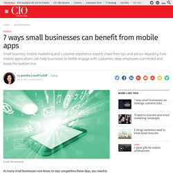 7 ways small businesses can benefit from mobile apps