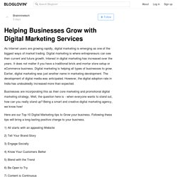 Helping Businesses Grow with Digital Marketing Services
