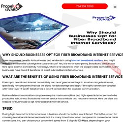 Why Should Businesses Opt For Fiber Broadband Internet Services?