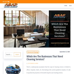 Top 5 Businesses That Need Cleaning Services