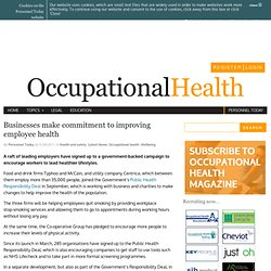 Businesses make commitment to improving employee health