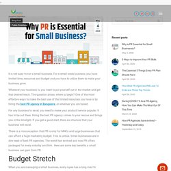 Why is PR Essential for Small Businesses?