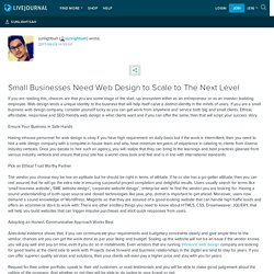 Small Businesses Need Web Design to Scale to The Next Level: sunlightsah