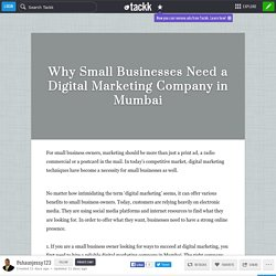 Why Small Businesses Need a Digital Marketing Company in Mumbai