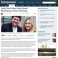 Daily Deal Sites Help Small Businesses Score Savings