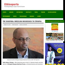 The Diaspora: wheeling businesses to Ethiopia