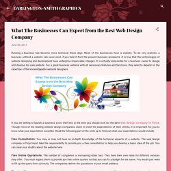 What The Businesses Can Expect from the Best Web Design Company