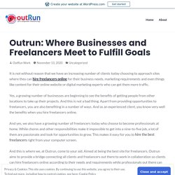 Outrun: Where Businesses and Freelancers Meet to Fulfill Goals – OutRun Work