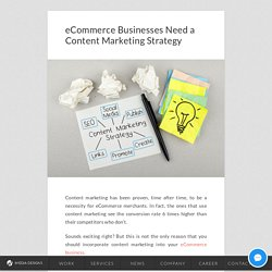 eCommerce Businesses Need a Content Marketing Strategy