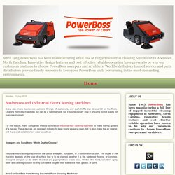 Businesses and Industrial Floor Cleaning Machines