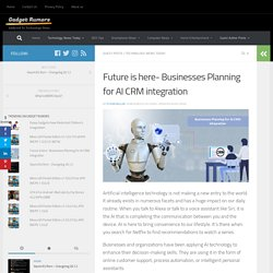 Why business CRM system need AI integration?