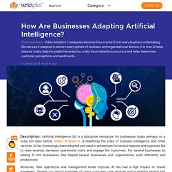 How Are Businesses Adapting Artificial Intelligence?