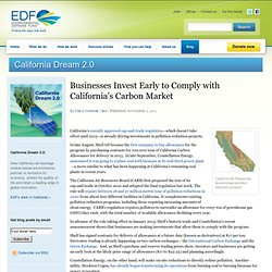 Businesses Invest Early to Comply with California's Carbon Market