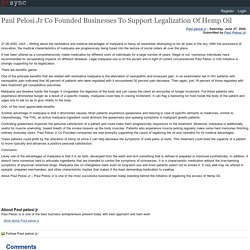 Paul Pelosi Jr Co Founded Businesses To Support Legalization Of Hemp Oil