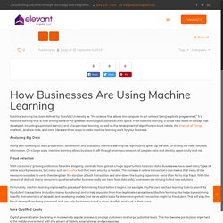 How Businesses Are Using Machine Learning