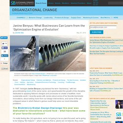 Janine Benyus: What Businesses Can Learn from the 'Optimization Engine of Evolution'