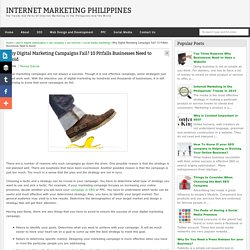Why Digital Marketing Campaigns Fail? 10 Pitfalls Businesses Need to Avoid - Internet Marketing Philippines