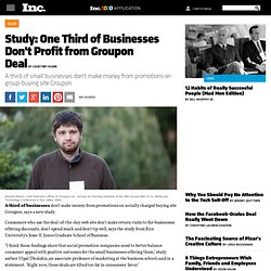 Study: One Third of Businesses Don't Profit from Groupon Deal