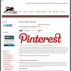 5 Ways for Businesses to Get Started on Pinterest