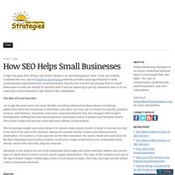 How SEO Helps Small Businesses