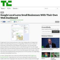 Google Local Lures Small Businesses With Their Own Web Dashboard