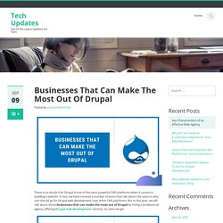 Businesses That Can Make The Most Out Of Drupal