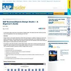 SAP BusinessObjects Design Studio – A Beginner's Guide