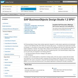 BusinessObjects Design Studio 1.3 SP01