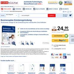 Businessplan Existenzgründung - Muster-Vorlage zum Download