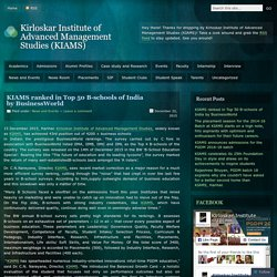 Kirloskar Institute of Advanced Management Studies (KIAMS)