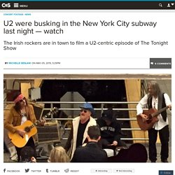 U2 were busking in the New York City subway last night — watch