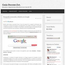 Busqueda avanzada y efectiva en Google