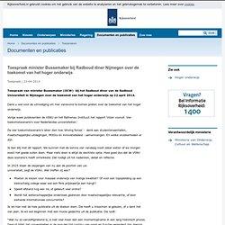 Toespraak minister Bussemaker bij Radboud diner Nijmegen over de toekomst van het hoger onderwijs