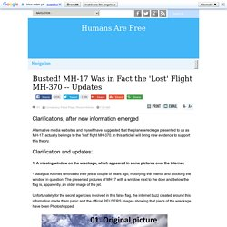 Busted! MH-17 Was in Fact the 'Lost' Flight MH-370
