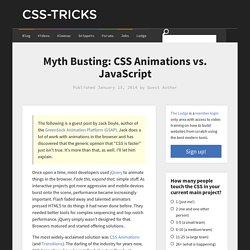 Myth Busting: CSS Animations vs. JavaScript