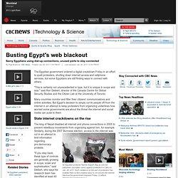 Busting Egypt's web blackout