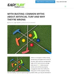 Myth Busting: Common Myths About Artificial Turf and Why They're Wrong
