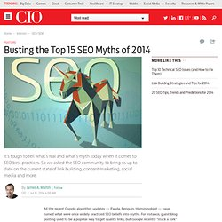 Busting the Top 15 SEO Myths of 2014