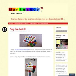 Busy bag Duplo©