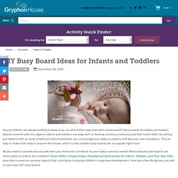 DIY Busy Board for Infants and Toddlers