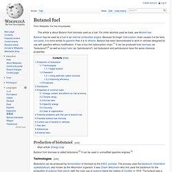 Butanol fuel