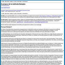 BUTEYKO: À propos de la méthode Buteyko
