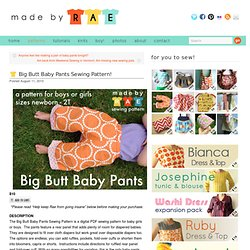 Big Butt Baby Pants Sewing Pattern!
