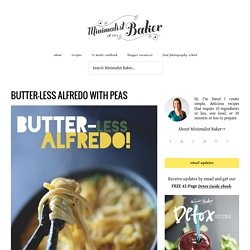 Healthy Alfredo Recipe with Peas