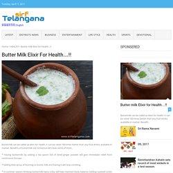 Butter milk Elixir for Health