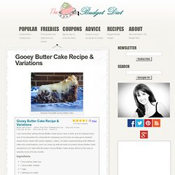 Gooey Butter Cake Recipe & Variations | The Budget Diet