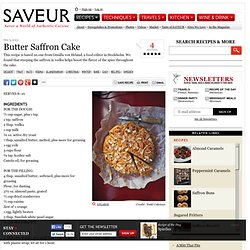 Butter Saffron Cake Recipe